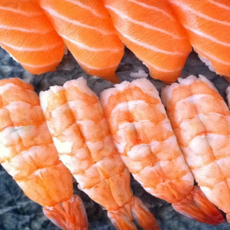 5 Sushi Saumon - 5 Sushi Crevette